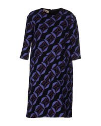Marni | Black Floral-print Wool-cady Dress | Lyst