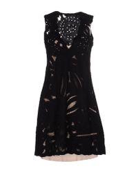 Pinko - Black Short Dress - Lyst