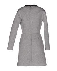 MSGM - Gray Short Dress - Lyst