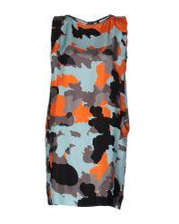 Plein Sud Jeanius - Blue Short Dress - Lyst