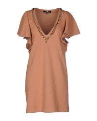 Elisabetta Franchi - Natural Short Dress - Lyst