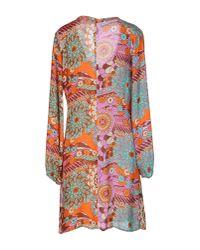 Nolita - Orange Short Dress - Lyst