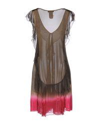 CoSTUME NATIONAL - Green Short Dress - Lyst