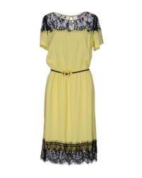 22 Maggio By Maria Grazia Severi | Yellow Knee-length Dress | Lyst
