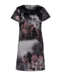 Max Mara Studio | Gray Short Dress | Lyst