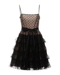 RED Valentino | Black Knee-length Dress | Lyst