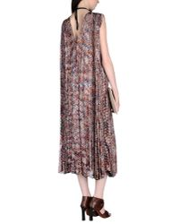 Missoni - Brown 3/4 Length Dress - Lyst