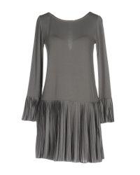 Patrizia Pepe - Gray Short Dress - Lyst