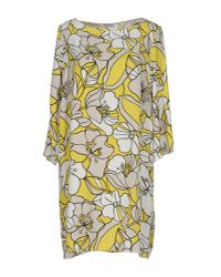 Miss Miss By Valentina - Yellow Short Dress - Lyst