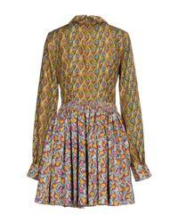 Manoush - Yellow Short Dress - Lyst