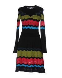 M Missoni | Black Short Dress | Lyst