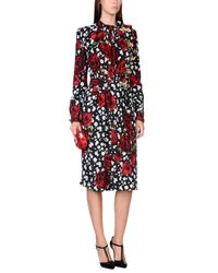 Dolce & Gabbana | Black Knee-length Dress | Lyst