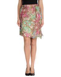 Manila Grace - Natural Knee Length Skirt - Lyst