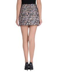 YMC - Black Mini Skirt - Lyst