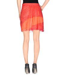 Marco Bologna - Orange Knee Length Skirt - Lyst
