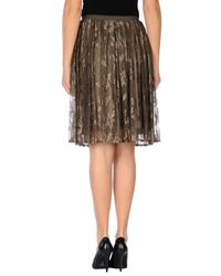 Soho De Luxe - Brown Knee Length Skirt - Lyst