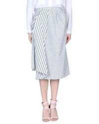 Acne - Gray 3/4 Length Skirt - Lyst