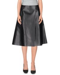 Space Style Concept | Black Knee Length Skirt | Lyst