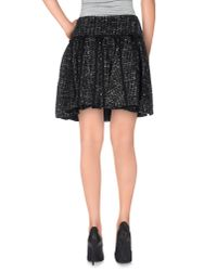 RED Valentino - Black Mini Skirt - Lyst