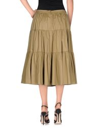 RED Valentino | Brown 3/4 Length Skirt | Lyst