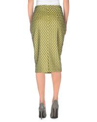 Darling - Green Knee Length Skirt - Lyst