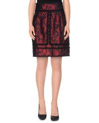 Dolce & Gabbana   Black Knee Length Skirt   Lyst