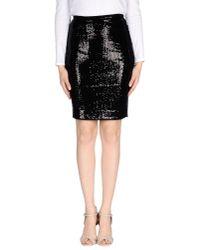 Plein Sud | Black Knee Length Skirt | Lyst