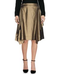 Vivienne Westwood Anglomania - Brown Knee Length Skirt - Lyst