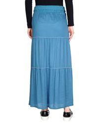 Quiksilver - Blue Long Skirt - Lyst