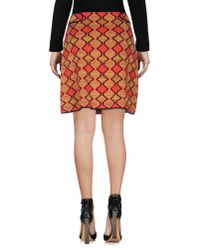 M Missoni - Red Knee Length Skirt - Lyst