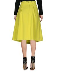 Jil Sander Navy - Green 3/4 Length Skirt - Lyst