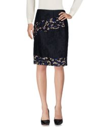 Michael van der Ham - Black Knee Length Skirt - Lyst