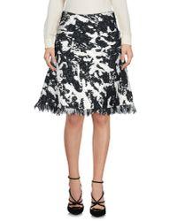 Neil Barrett - Black Knee Length Skirt - Lyst