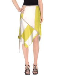 Collection Privée - Multicolor Knee Length Skirt - Lyst