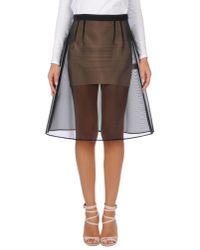 Dolce & Gabbana | Black Knee Length Skirt | Lyst