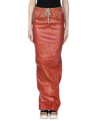 DRKSHDW by Rick Owens - Red Long Skirt - Lyst