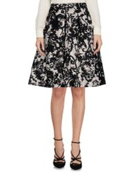 Dior - Black Lace Panel Layered Skirt - Lyst