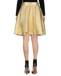 Tara Jarmon - Metallic Knee Length Skirt - Lyst