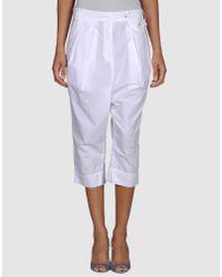 Pauw - White 3/4-length Short - Lyst