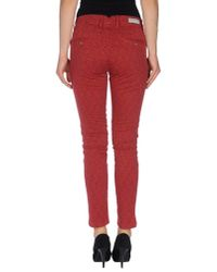 TRUE NYC - Red Casual Pants - Lyst