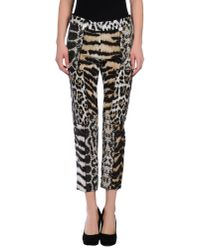 Roberto Cavalli | Natural Casual Pants | Lyst