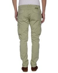Officina 36 - Green Casual Pants for Men - Lyst