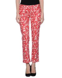 Tory Burch | Red Casual Pants | Lyst