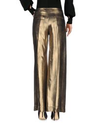 Jucca - Metallic Casual Pants - Lyst