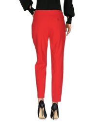 Moschino - Red Casual Pants - Lyst