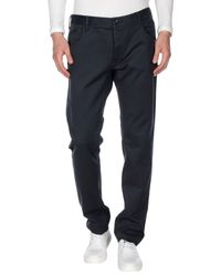 Armani Jeans | Blue Tapered Fit Casual Tailored Trousers for Men | Lyst