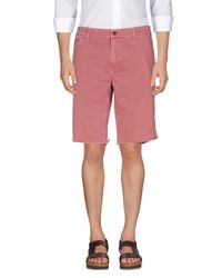 Fred Perry | Pink Bermuda for Men | Lyst