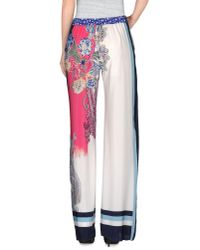 Etro - White Casual Trouser - Lyst