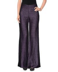 Pietro Grande - Purple Casual Trouser - Lyst