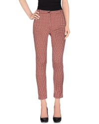 Pinko - Red Casual Trouser - Lyst